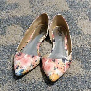 Brash floral slip on shoes